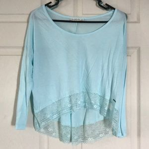NWOT Abercrombie & Fitch long sleeve crop top!